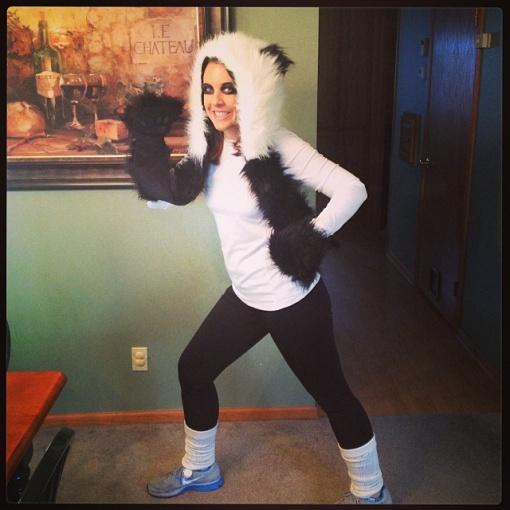 Panda running outfit