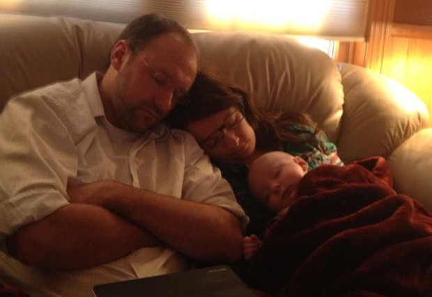 Not sure why this image felt appropriate, but it did. The three of us taking a much-needed snooze, the first christmas we all shared together.