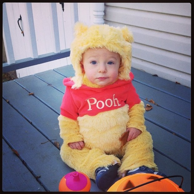 Exhibit E: Pooh Bear looking for his pot o' honey.